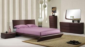 King Bedroom Furniture Sets on Bedroom Furniture 5 Piece Artistic Wenge Finish Modern Bedroom Set